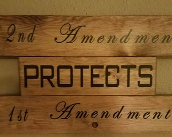 2nd amendment sign - bill if rights - constitution - 1st amendment - 2nd amendment - second amendment - NRA - Plaque - Father's Day Gift