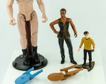 Vintage Star Trek Action Figure Lot & Pencil Toppers