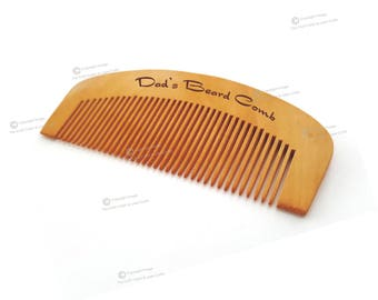 Personalised Mens or Ladies Top Quality Wooden Beard Moustache Hair Pocket Comb.