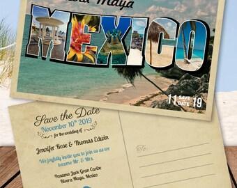 Mexico Destination Wedding Save-the-Date Postcard
