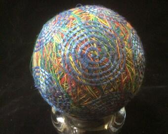27 cm Blue Swirls Temari