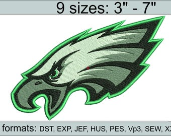 Philadelphia Eagles embroidery design logo / embroidery designs / INSTANT download machine embroidery pattern