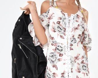Joss Floral Lace Up Dress
