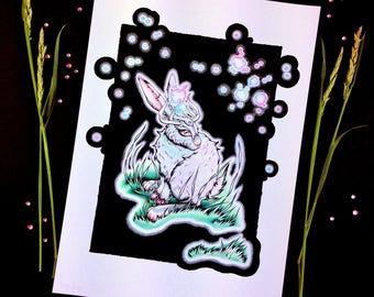 Starlit Runner - Signed A4 Art Print