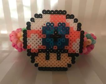 Flower Child 3D Kandi Cuff Bracelet Large