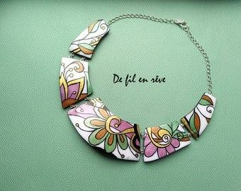 Handmade polymer paste Necklace (C44)