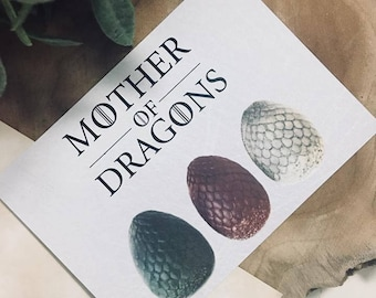 Mother of Dragons Postcard Game of Thrones
