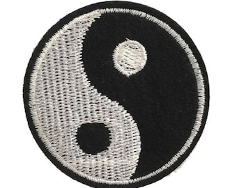 Yin Yang Iron On Embroidered Patch, Patches, Custom Patch, Iron On Patch,