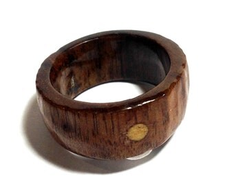 Hand-Carved Wooden Ring