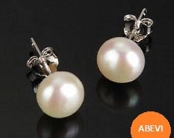 9-10mm Genuine Japanese Akoya Pearl Stud Earrings