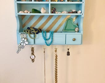 Jewelry Holder. A refinished piece to hold all your knick-knacks!