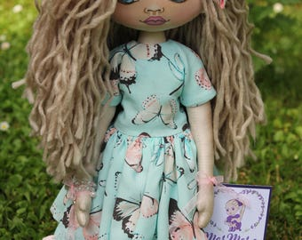 Butterfly doll Art doll Interior doll Home decoration Textile doll Personalized doll Doll for girl Handmade doll Christmas present