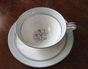 Noritake Blue Bell Cup and Saucer