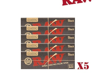 RAW Black Rolling Papers Smoking Herb Weed Unbleached Chloride Free