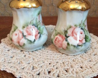 Handpainted China Salt and Pepper Shakers