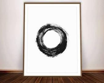 Black and White Prints • Scandinavian Modern Painting Black and White Art Zen Decor Zen Art Zen Buddhist Art Buddhism Modern Art Minimal Art