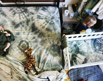 Custom - bed sheets - hand dyed         single - king size