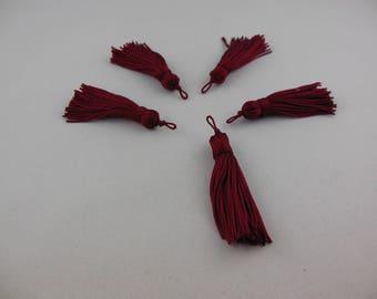 Wire color tannin rayon tassel