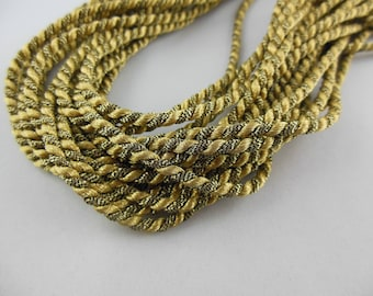 Cord twisted metal color gold / old gold