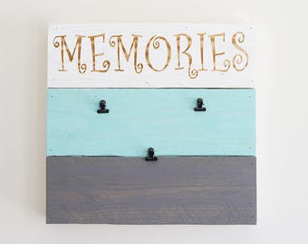 Engraved Pallet Wood Sign- Memories Picture Frame | Note Board | Gift | Grocery List | Recycled | Sustainable | Eco Friendly