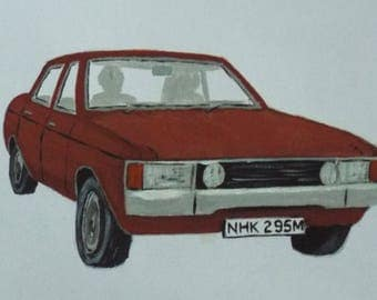 "Ford Consul (Granada Mk1) GT ""The Sweeney"" Original Painting"