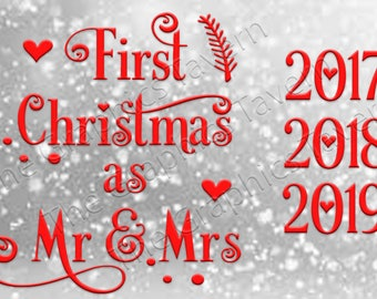 First Christmas as Mr & Mrs
