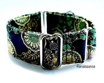 RENAISSANCE - Martingale collar, fancy dog collar, Greyhound collar, Saluki collar, Galgo collar, Whippet collar, sight hound collar, weddin