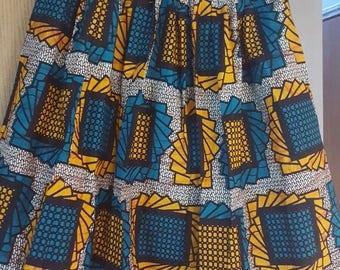 African print Ankara midlength skirt