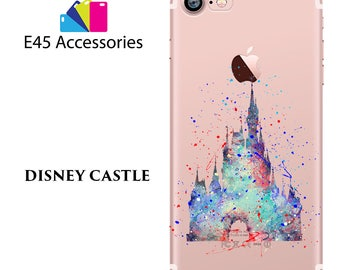 Disney Castle Watercolour Hard Case for iPhone 5S 5 SE, iPhone 6S 6 or iPhone 7