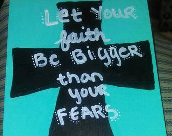 Bible verse painted on wood inspiring