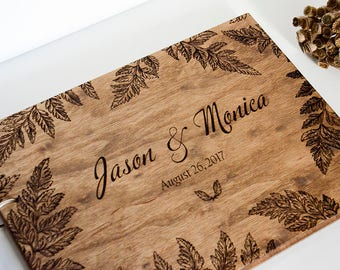Wedding guest book Wooden guest book Rustic guest book Guestbook Wedding memory Engraved guest book Custom guest book Personalized guestbook