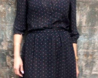 Vintage Sheer  Skirt & Blouse
