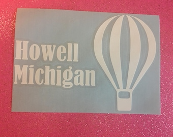 Howell Michigan Balloon Decal