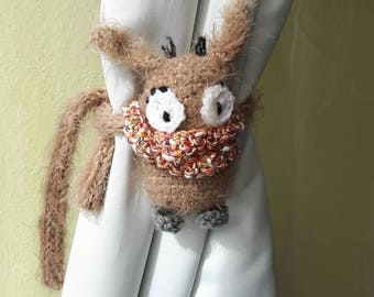 This soft toy home decor crochet curtain tie