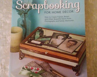 Book. Scrapbooking for home decor.