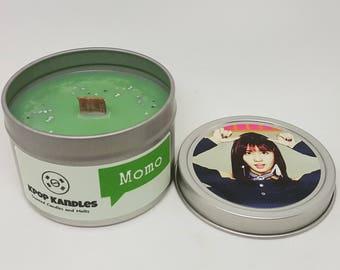 Momo- 4OZ- Scented Candle- Twice- Kpop- Wood Wick Candle- Kpop Gift- Kpop Merch- Girl Group- Korean- Hallyu