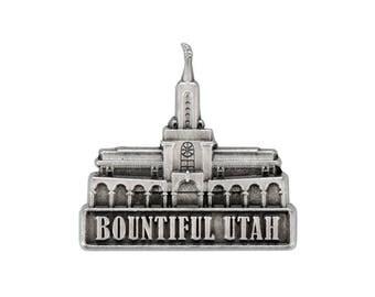 Bountiful Utah Temple Silver Pin - LDS Gifts