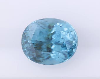 6.38 ct Blue Zircon, Oval Cut Natural Blue Zircon, Loose Blue Zircon, Natural Loose Gemstone, Oval Loose Zircon, Oval Cut, Quality Gemstone