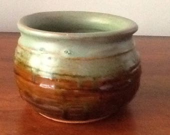 "Red earthenware pot 4""diameter, 3 3/4"" tall"