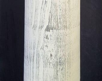 Rustic Wood Accent Lamp, Solid Turned Hamilton, Rustic Finish