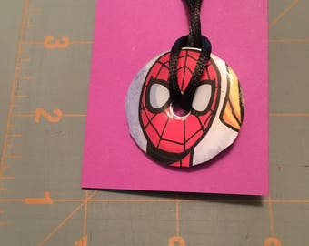 Spider-Man Washer Necklace