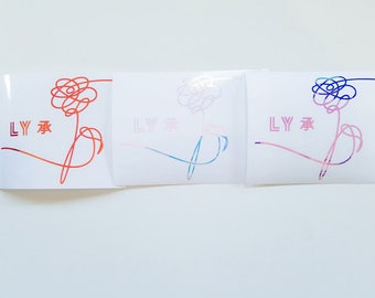 K-POP BTS Love Yourself Her Holographic Decal Sticker