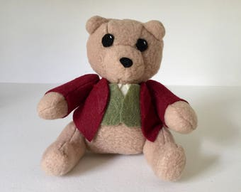 Lord of the Rings Inspired Plushie - Bilbo, Hobbit, Bilbo Baggins Bear Plush | Benji the Bear
