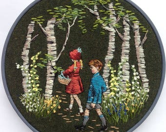 Hand Embroidery 'Hansel and Gretel'