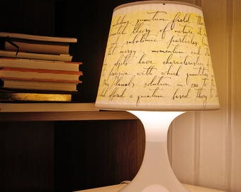 Calligraphy lampshade for IKEA lamp - Lampan