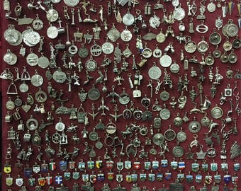 Vintage Sterling Silver and 800 Silver Travel Charms 1950s to 1970s Vintage New Photos as of Jan 13 2018 @ 10 dollars each charm