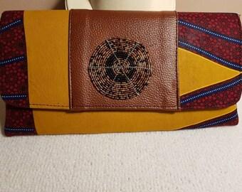 African fabric Clutch bag