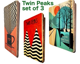 Twin Peaks. poster. gift. for. men. women. friend. coffee. print. art. minimalist. David Lynch