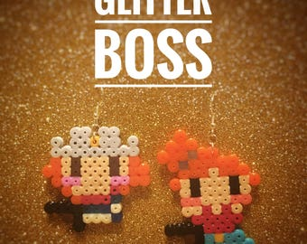 Thelma and Louise pixel earrings