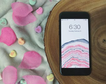 Baby Pink Geode Wallpaper for iPhone 5, 5S, 5C, SE
